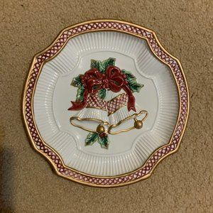 Fitz & Floyd Essentials Holiday Bells Canape Plate